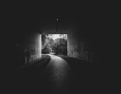 Ardennes en noir et blanc