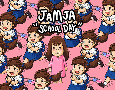 "JAMJA ""School Day"" LINE Stickers"