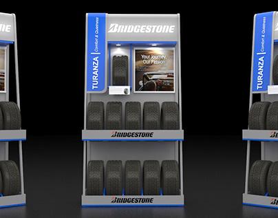Bridgestone Car Tyre Display Stand