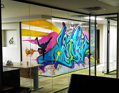 Daiichi-Sankyo   Graffiti on Glass
