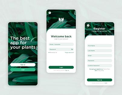 Apps Sign up/ Login UI Design