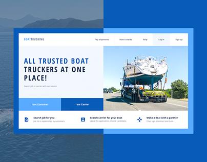 Boat Trucking UX/UI