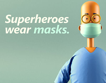 Superheros wear masks