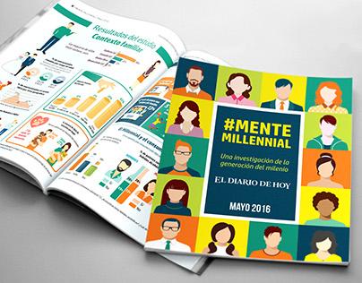 Diseño editorial Suplemento Mente Millennial
