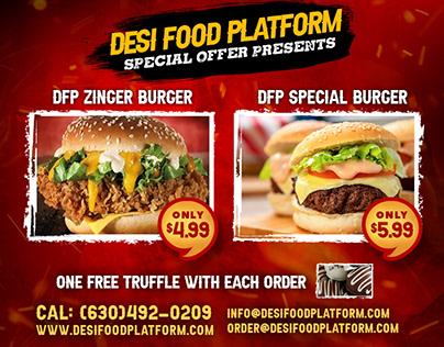 Desi Food Flyer