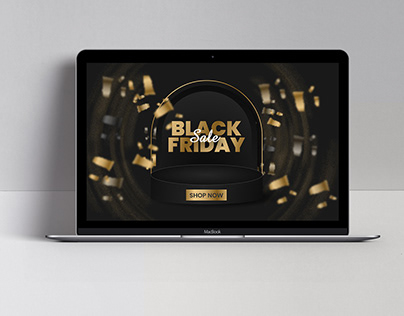 Abstract Black Friday Sale Banners Ad Design
