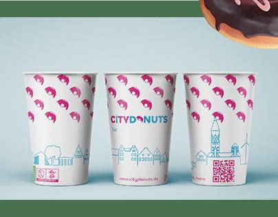 Corporate Design für City Donuts in Rheine, Deutschland