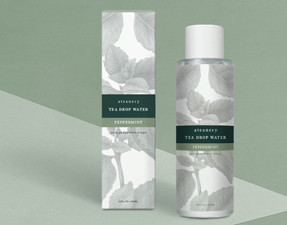 natural tea skincare branding