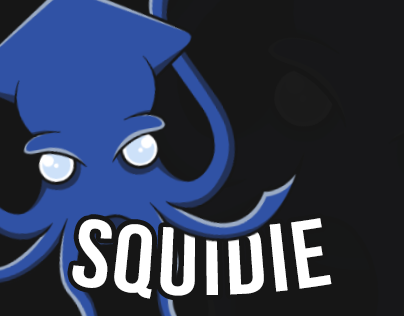 Squidie is my first logo in adobe illustrator cc !