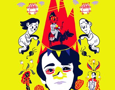 Hereditary (2018) movie poster illustration