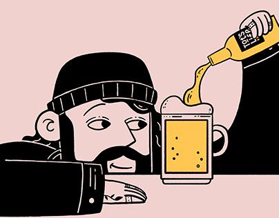 Tot´s life beer ilustraciones