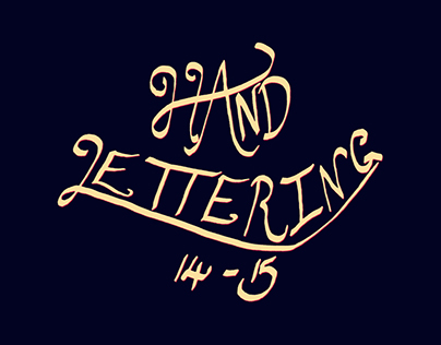Hand Lettering 14 || 15