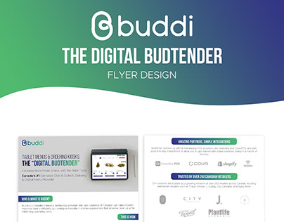 Digital Bud tender Company Flyer Design
