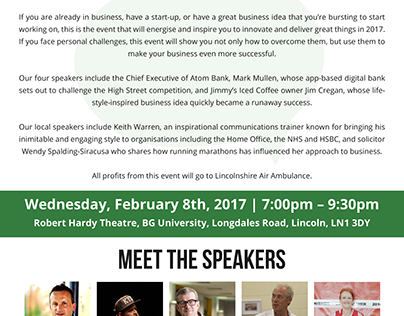 Power Talks 2017 Flyer Design
