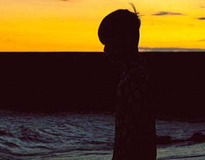 Pôr do sol em Angra