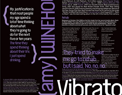 Vibrato: Custom Font and Type Specimen
