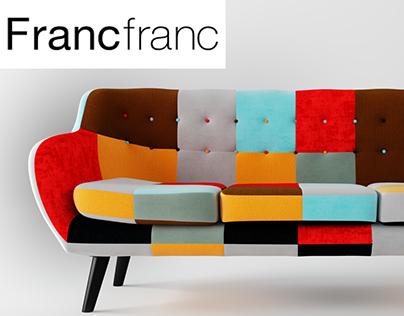 NAVIA Patchwork Sofa