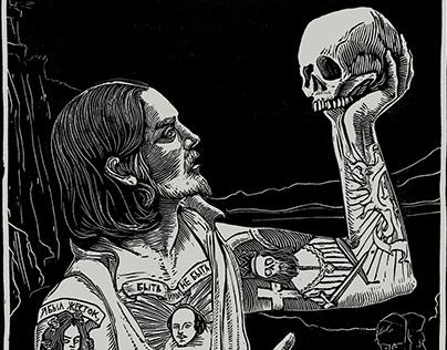 Hamlet Linocut