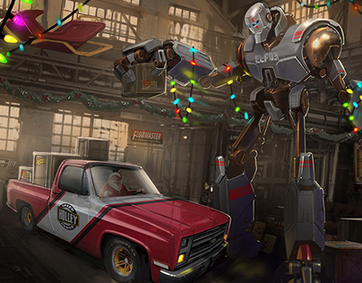 Holley Carb Christmas Card