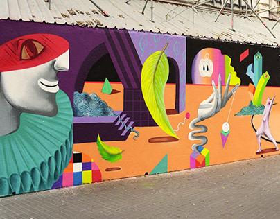 Parallel Universes Mural | Arnau Gallery | Barcelona