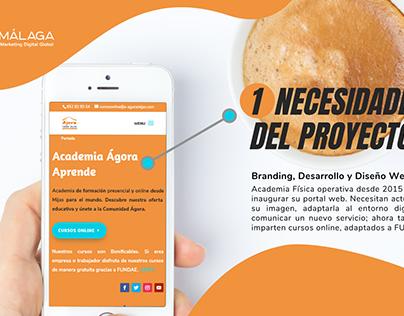 Diseño Web 🚀 Para Academia Online [Ágora Mijas]