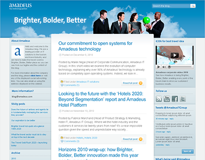 Amadeus IT Group web design