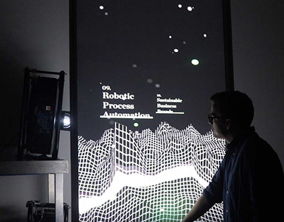 Deloitte Digital - The Map of Knowledge Installation.