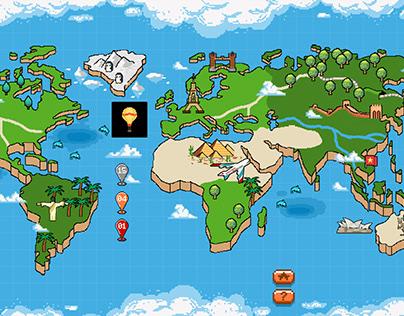 Pixel cargo game