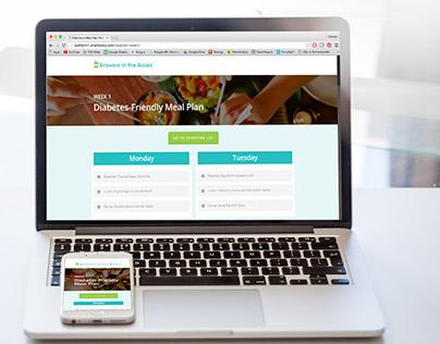 Diabetes-Friendly Digital Meal Plan
