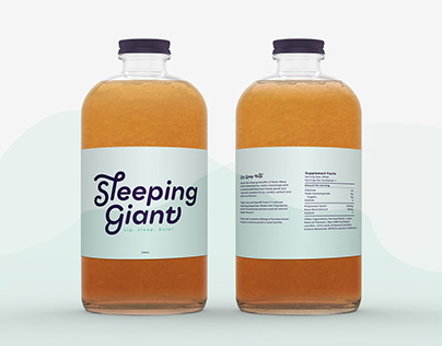 Simple Drink Logo and Packaging Design