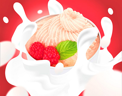 Splash Yoghurt Poster Design