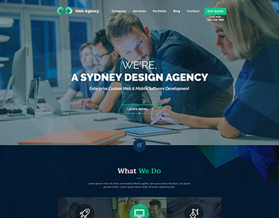 Design Agency One Page PSD Template