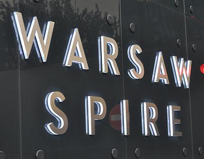 Warsaw Spire wayfinding system
