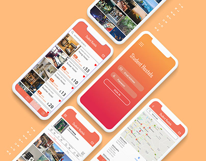 UX/UI App design collaborate with hostelworld
