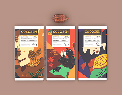 COCOZEN | 巧克力插画包装设计【原创】