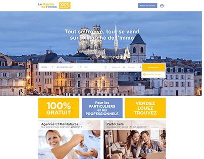 UI/UX & Website Development of Real Estate Portal
