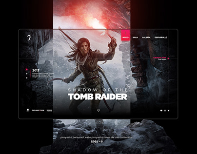 Tomb Raider Web Experience Concept