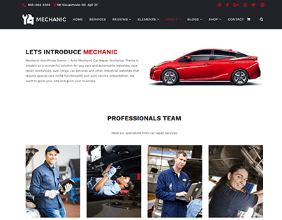 Mechanic WordPress Theme - About Page
