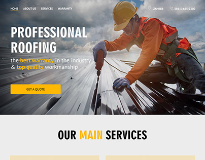 Langing page roofing company