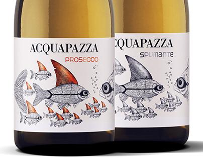 AQUAPAZZA - SET OF WINE LABELS