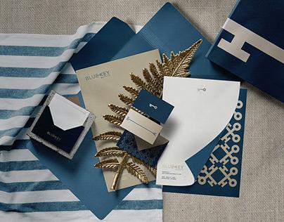 Blue Key Realty brand design.