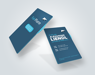 Business card with claim calculator