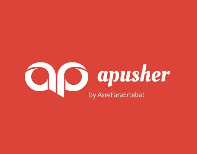Advertising Push Notification - Logo Design - (apusher)