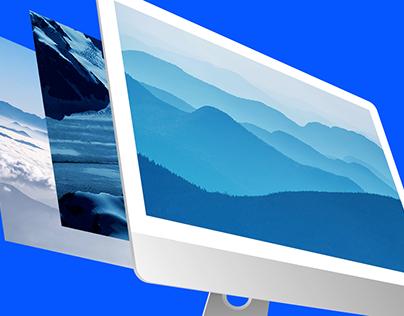 iMac Pro Mockup (Photoshop & Sketch App)