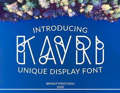KAVRI Font display