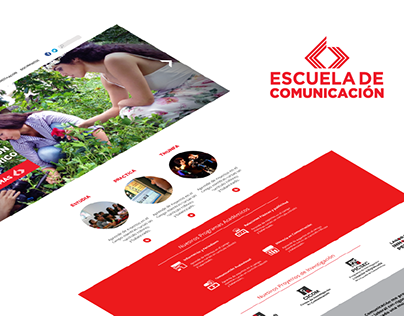 Escuela de Comunicación Website