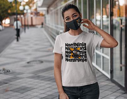 Nerd Ninja T-Shirt Brand Design