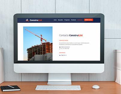 Construlist - Diseño y Desarrollo Plataforma Web