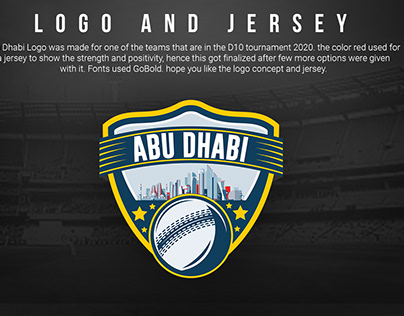 Logo and Jersey design for Emirates Cricket Board