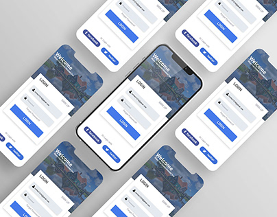 Login Screen For Travelling App
